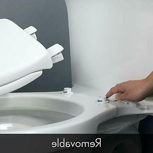 Toilet Lift Closed Front Elongated Wood White Quality.