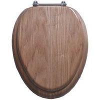 Toilet Seat Natl Oak Fnsh 17in