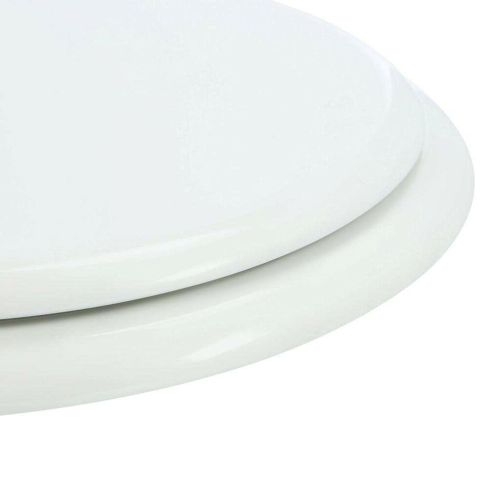 TOILET SEAT REPLACEMENT White Closed Front Standard Wood