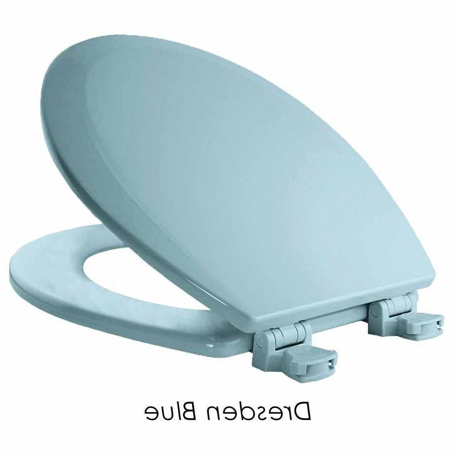 Toilet Seat Replacement Hinge Lift Round Pink Grey