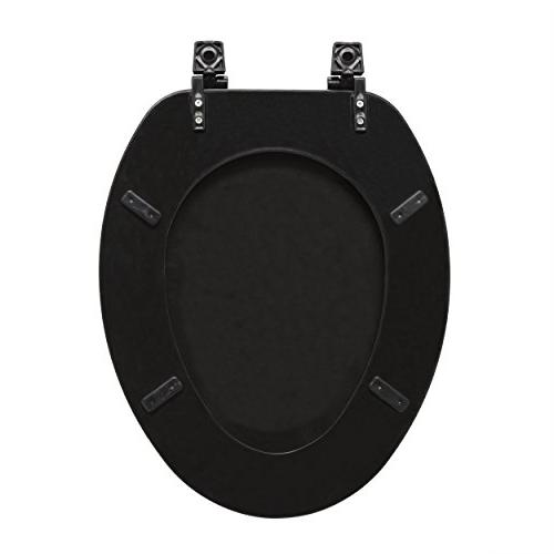 Achim Furnishings Fantasia Toilet Seat Black