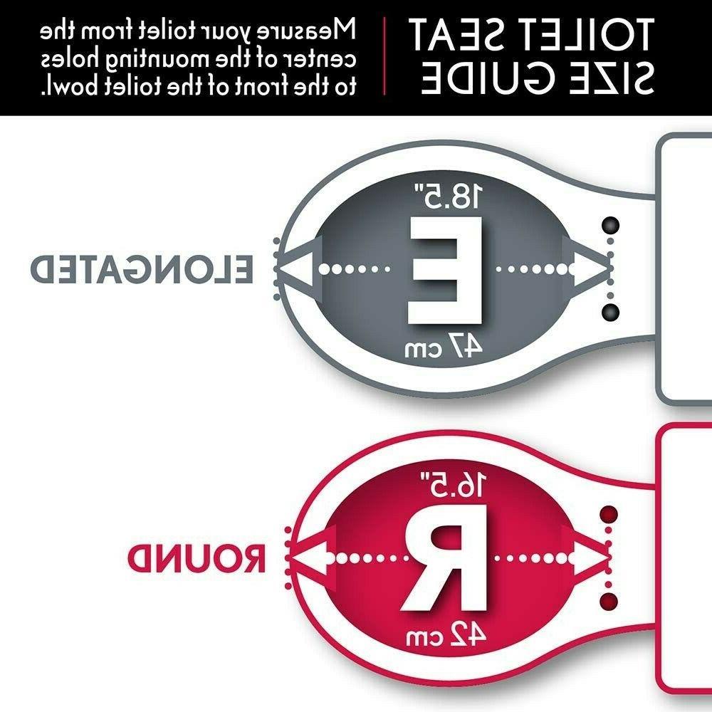 Universal Toilet Seat Replacement Adjustable Round Premium NEW