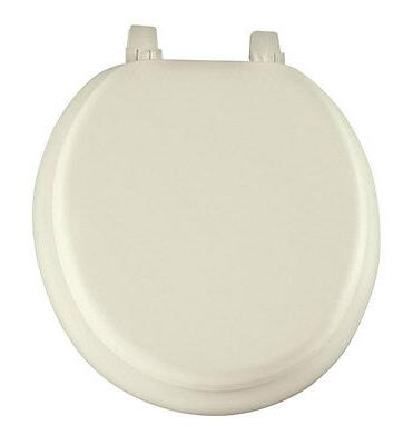 Mayfair  Vinyl  Slow Close Cushioned Toilet Seat  Round  Bon
