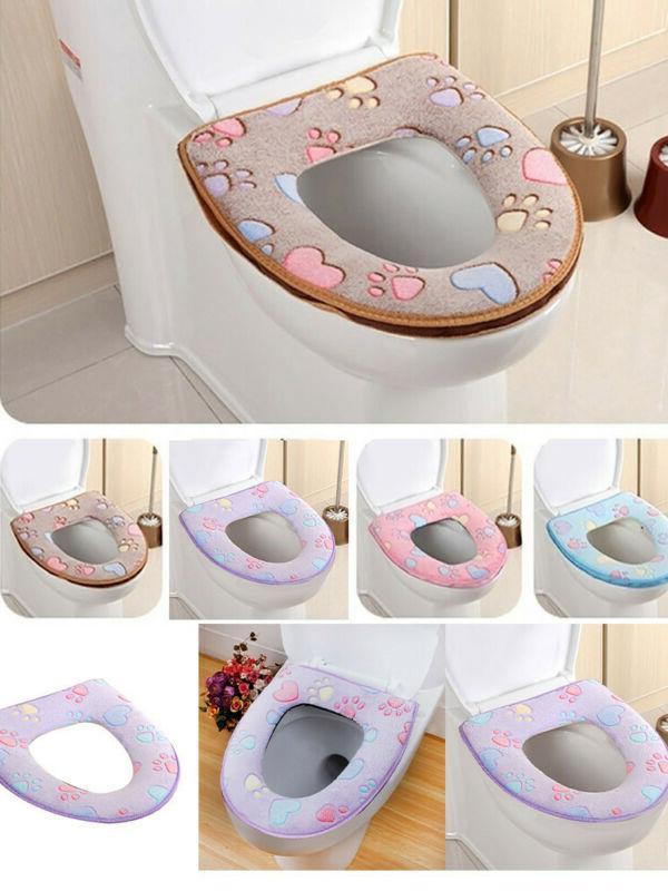Bathroom Seat Pad Cloth Soft Closestool Cover