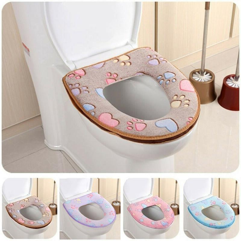 Bathroom Warmer Toilet Mat Seat Pad Cloth Soft Closestool Wa