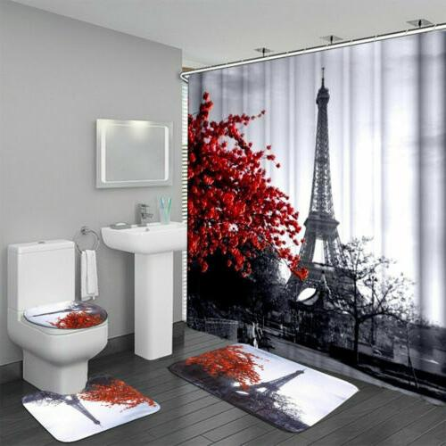 Waterproof Bathroom 4PCS Set Seat