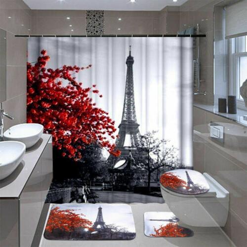 waterproof bathroom shower curtain 4pcs bathroom bath