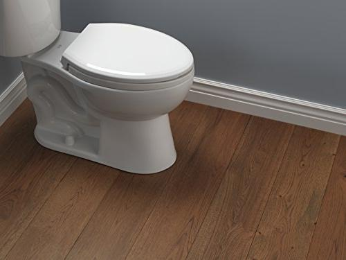 Delta Faucet Elongated Nightlight Toilet with Slow Close and Quick-Release,