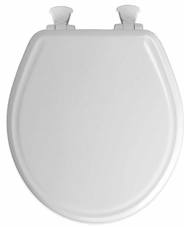 White Gloss Toilet Seat Quiet Close Standard Round Bowl Easy