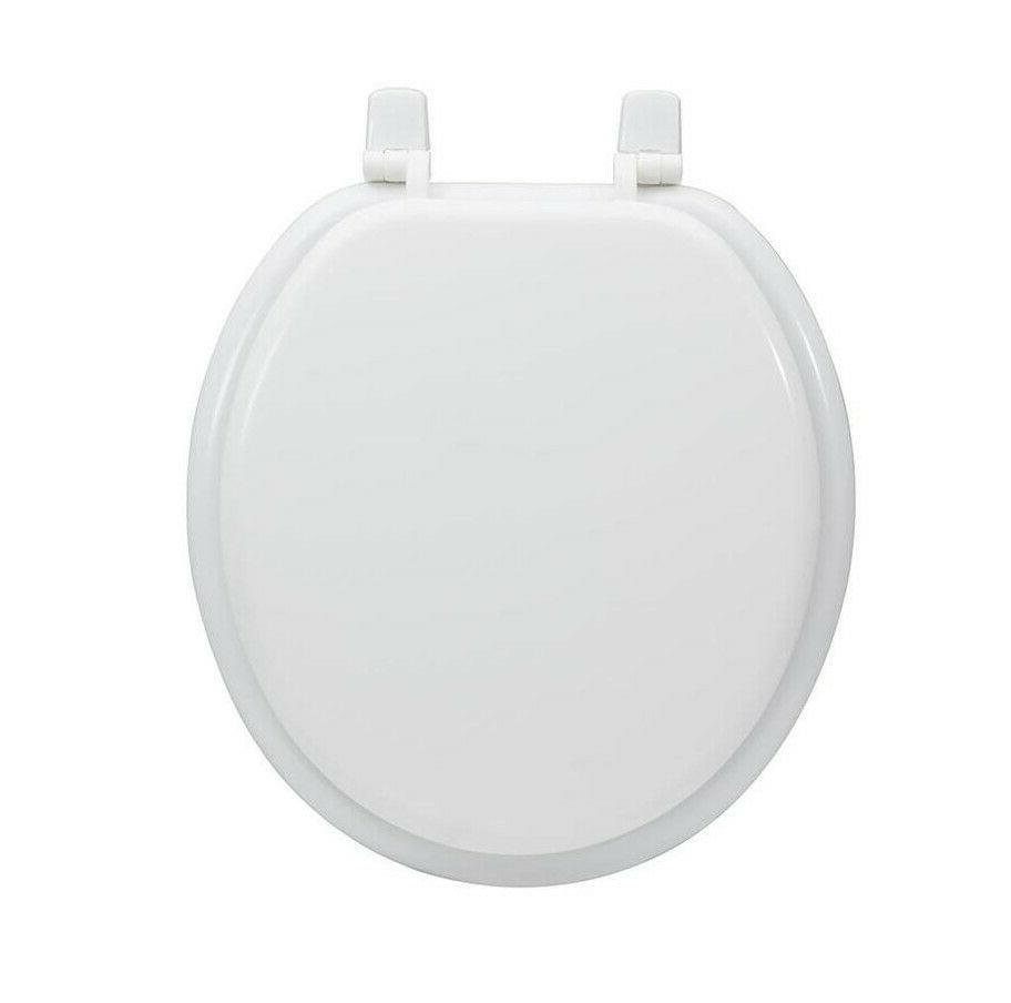 white round wood toilet seat high gloss