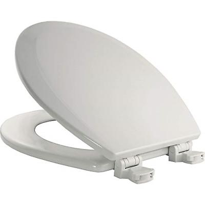 BEMIS 500EC 000 Toilet Seat with Easy Clean & Change Hinges,
