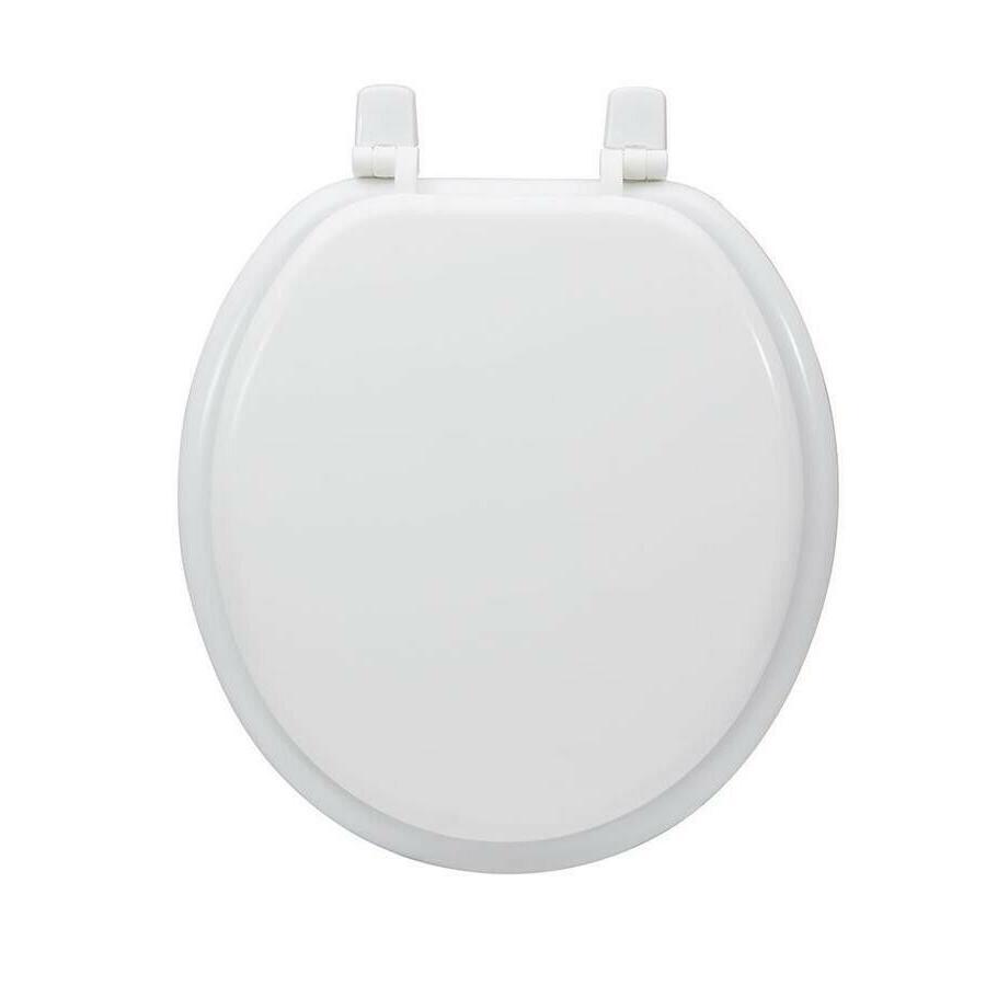 white wood round toilet seat lid durable
