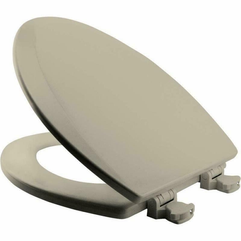Bemis Elongated/Round Toilet Seat With Change Hinge