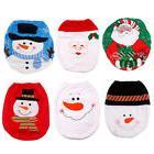 Xmas Toilet Seat Cover Merry Christmas Cute Snowman Elf Sant