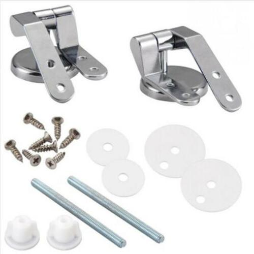 Universal Metal Toilet Hinges Set Replacement Accessories OO