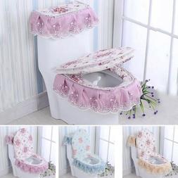 Latest Toilet Seat Cover Closestool Tank Lid Mat Bathroom La
