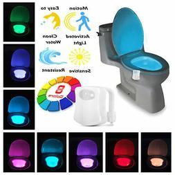 LED Motion Toilet Night Light Bowl Seat 8 Colors Body Sensin