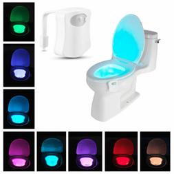 LED Toilet Bathroom Night Light Human Motion Activated Seat