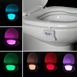 LED Toilet Bathroom Night Light PIR Motion Activated Seat Se