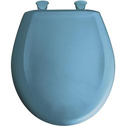 Lift-Off Plastic Round Toilet Seat Finish: New Orleans Blue