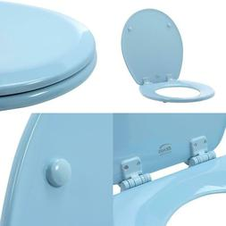 Lift-Off Never Loosens Round Closed Front Toilet Seat In Sky