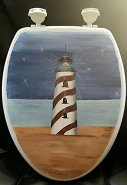 Primitive Country Decor Hand Painted Light House Lighthouse