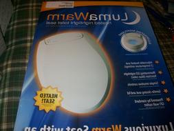 LUMAWARM HEATED TOILET SEAT BY BRONDELL *ROUND BISCUIT L60-R