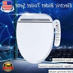 Luxury Electric Bidet Warm Toilet Seat for Elongated Toilets