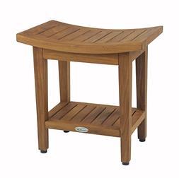 Aqua Teak Maluku Shower Bench with Shelf