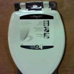 Mayfair Elongated Molded Wood Toilet Seat with Easy Clean &