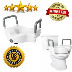 Vaunn Medical Elevated Raised Toilet Seat and Commode Booste