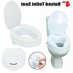 Medical Raised Toilet Seat Elevated 4 Inch Adjustable 300 lb