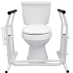 Vaunn Medical Bathroom Toilet Rail Grab Bar and Commode Safe