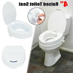 "Medical Toilet Seat Elevator Raised Elongated 4"" Height Elde"