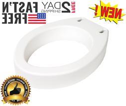 Medical Toilet Seat Riser Elongated  Standard Portable Light