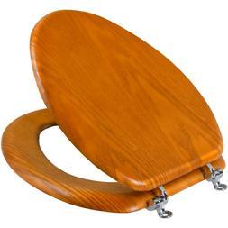 Mainstays Medium Oak Elongated Toilet Seat