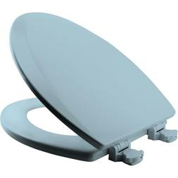 Molded Wood Elongated Toilet Seat, Dresden Blue