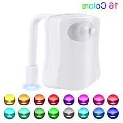 Motion Activated Toilet Night Light 8 Color Changing Led Toi