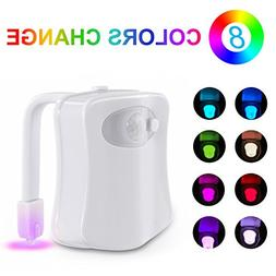 Sunnest Motion Activated Toilet Night Light, LED Bowl Light,