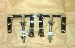 New Polished CHROME PLATED ZINC Toilet Seat Hinge Hardware U