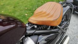 Real Leather SEAT TRIUMPH BOBBERGel Comfort Tuck'N Roll Stit