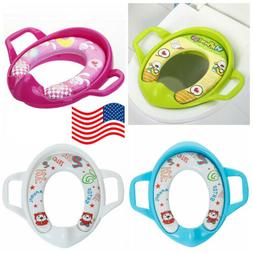 New Safety Potty Training Toilet Seat Baby Soft Padded With
