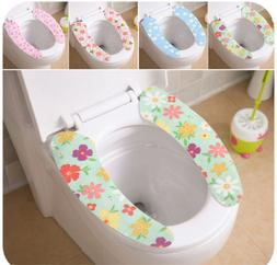 NEW TOILET SEAT CLOTH SOFT WASHABLE SEAT COVER PAD BATHROOM