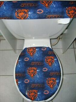 NFL Chicago Bears Fabric Elongated Toilet Seat Lid & Tank Co
