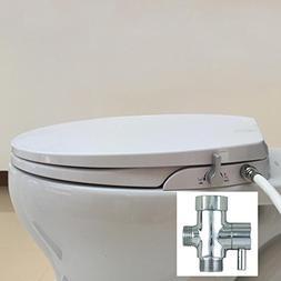 Hibbent Non Electric Toilet Bidet Seat - American Round Toil