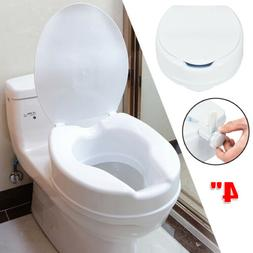 """Open Front Elevated Raised Toilet Seat -4""""Booster Seat Elder"""