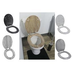 Evideco Oval Toilet Seat  Effect 3D Printed Sides- Adjustabl