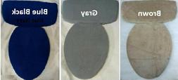 Plush Fleece Fabric COVER Toilet Lid OR/AND Tank Top Gray Na