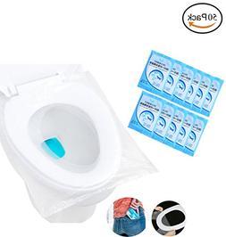 Fashionclubs Pocket Size Travel Disposable Plastic Toilet Se