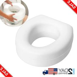 Portable Elevated Raised Toilet Seat Riser Universal Size Sl
